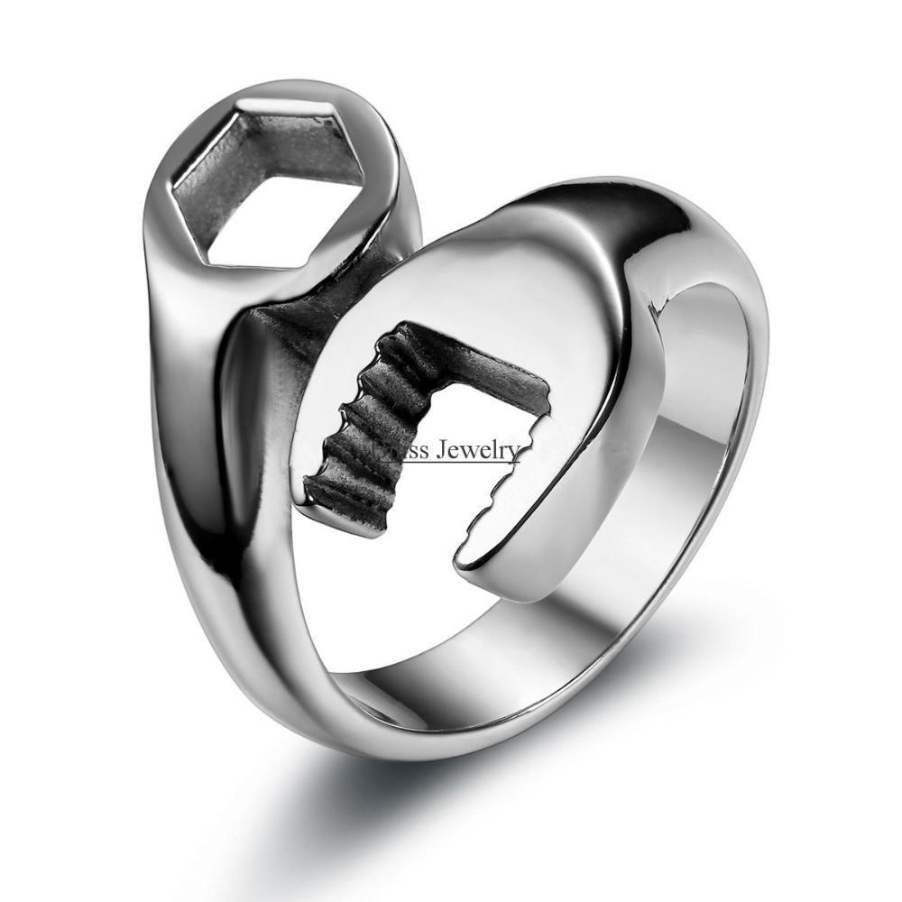 45132e64712d Tienda Online Moda cool biker mecánico Llaves inglesas anillo para ...