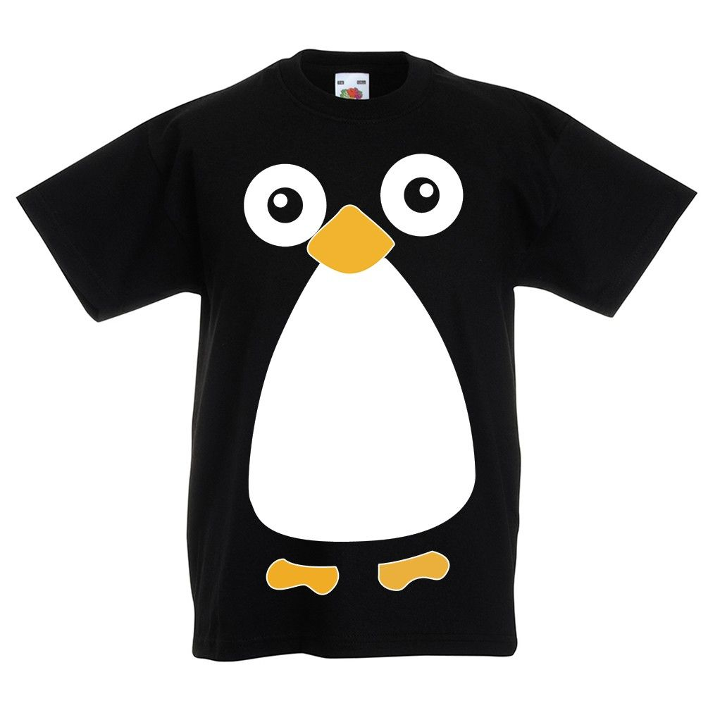 Penguin Bird Funny T-Shirt For Kids Boy Girl TeeShirt T-Shirt Cute Shirt Baby
