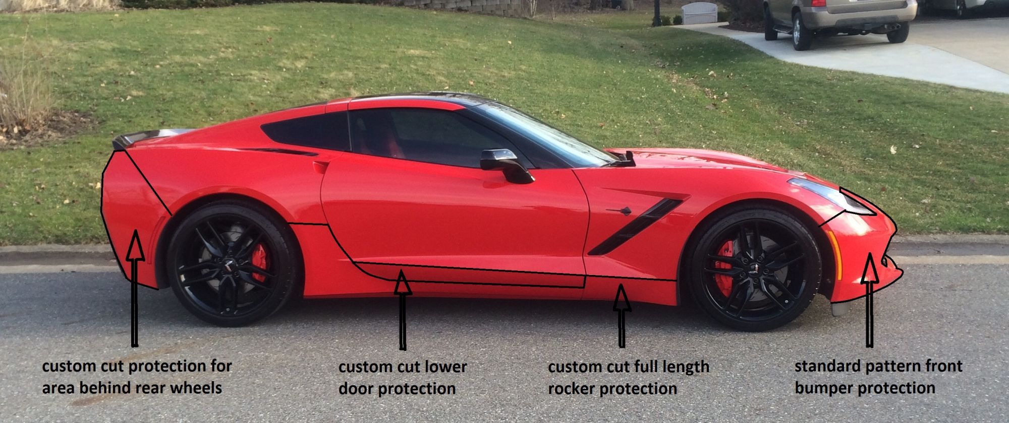 Best Areas To Protect Your Stingray C7 Tinted Windows Chevrolet Corvette Clear Bra