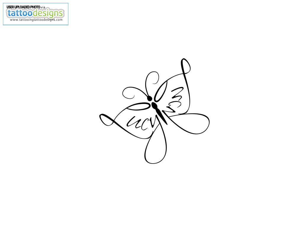 Little simple butterfly tattoolove the mirrored name its my