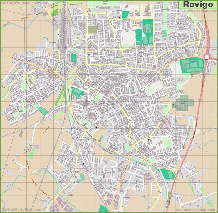 Large detailed map of Rovigo Maps Pinterest Italy Interesting