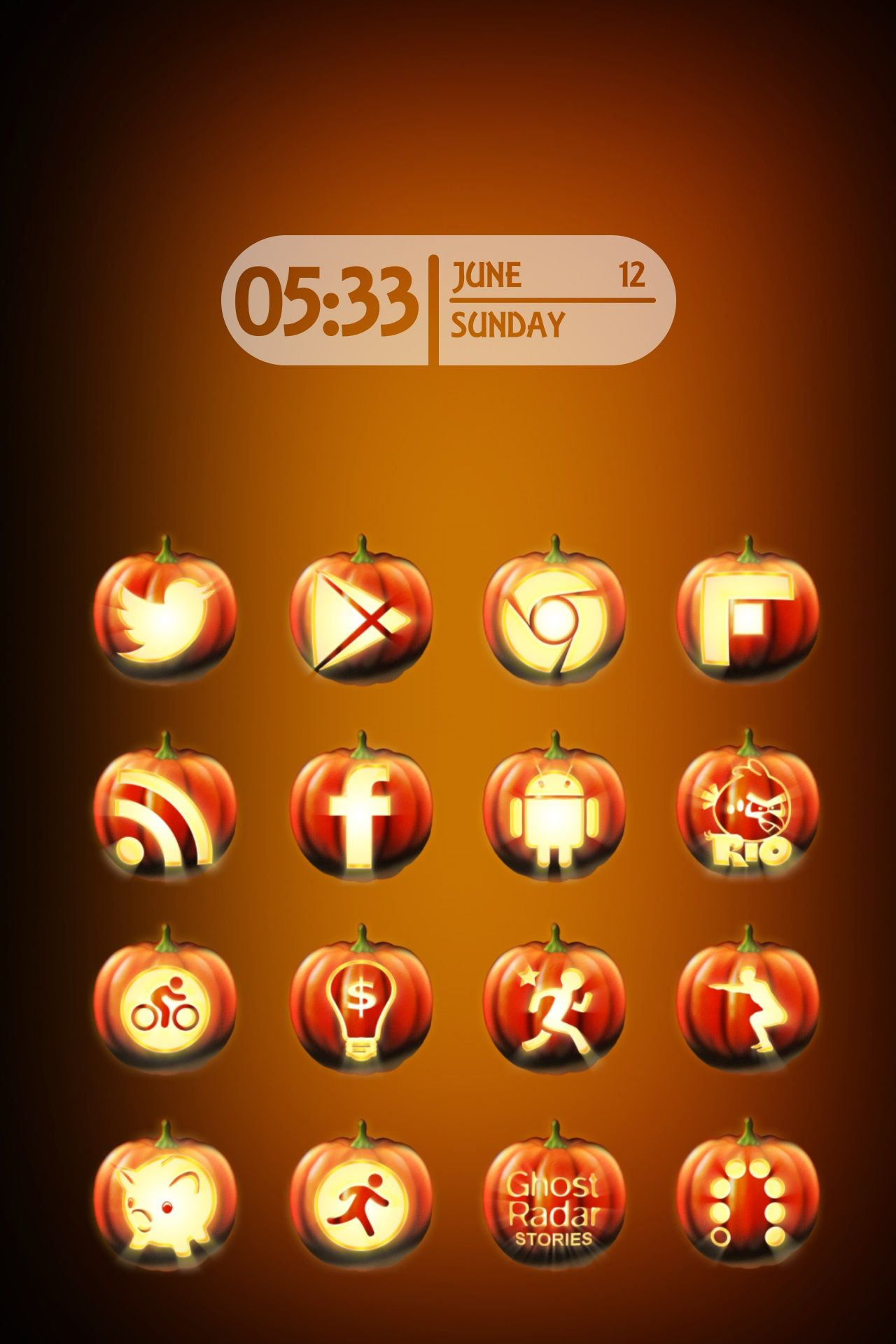 Pumpkin Halloween Icon Pack