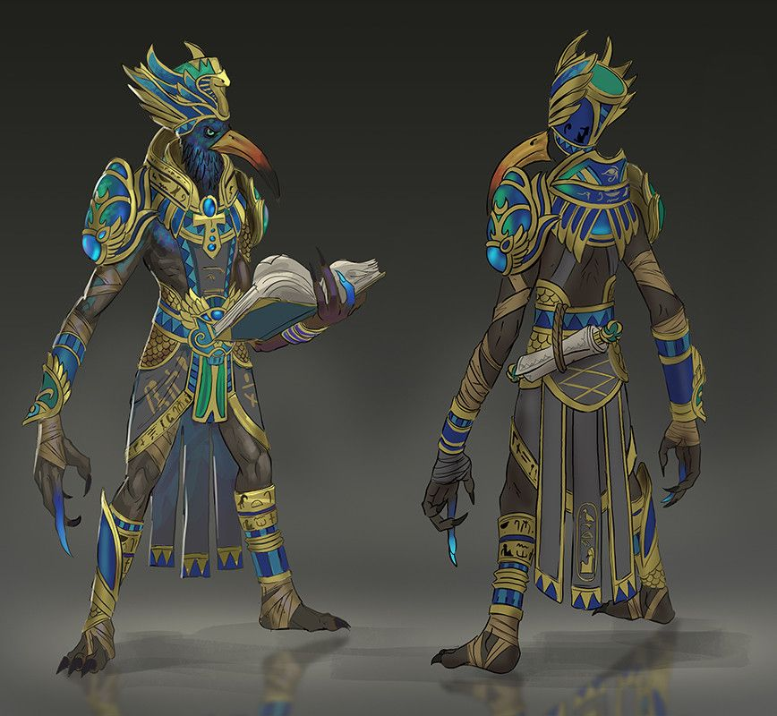 Andy Timm Thoth Colors 3 Jpg 868 800 Egyptian Deity Creature Design Egyptian Gods
