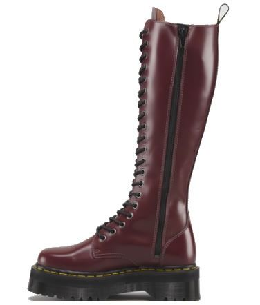 5498c605656 Doc Martens tall boots burgundy oddly I like these