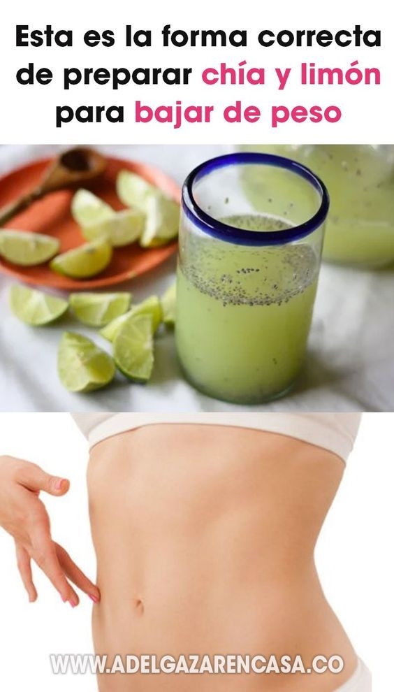 Bebida de limón y chia para bajar de peso, ¡pruébala!