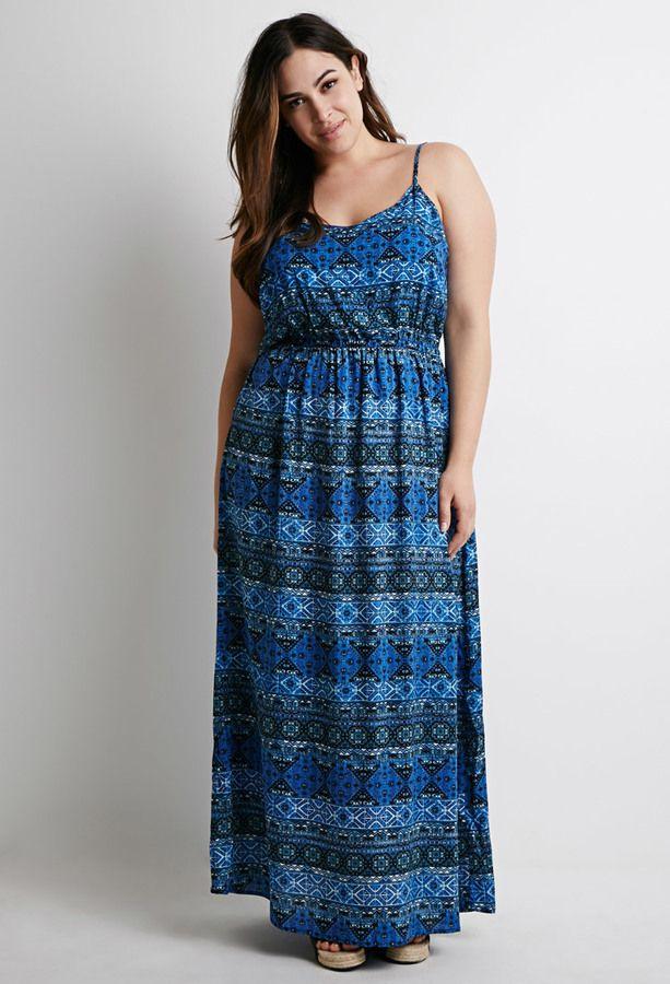 FOREVER 21  Tribal Print Maxi Dress (Plus Size) | Plus Size ...