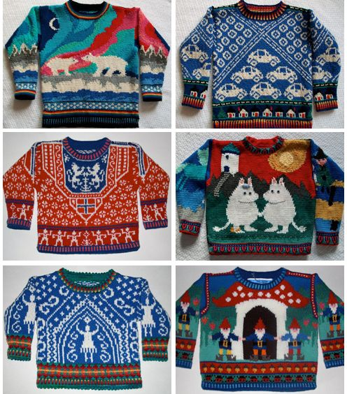 awesome knit sweaters.