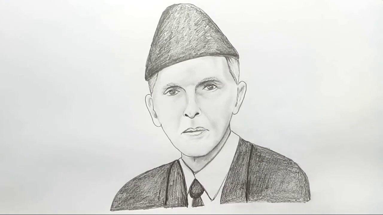 How To Draw Quaid E Azam Step By Step Syed Muddassir Raza As Salam O Alaikum Friends Syed Muddassir Raza Is Here With Its New Video How To Drawings Draw Art