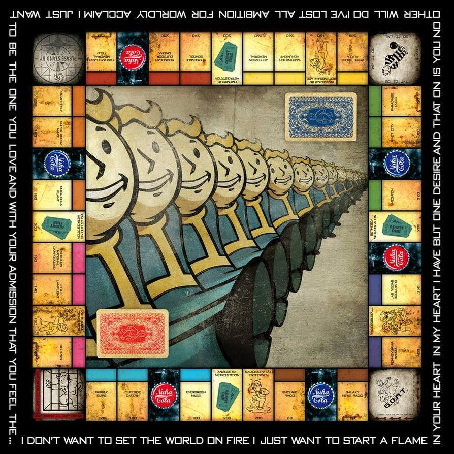 Fallout Monopoly Fallout game, Monopoly, Monopoly game