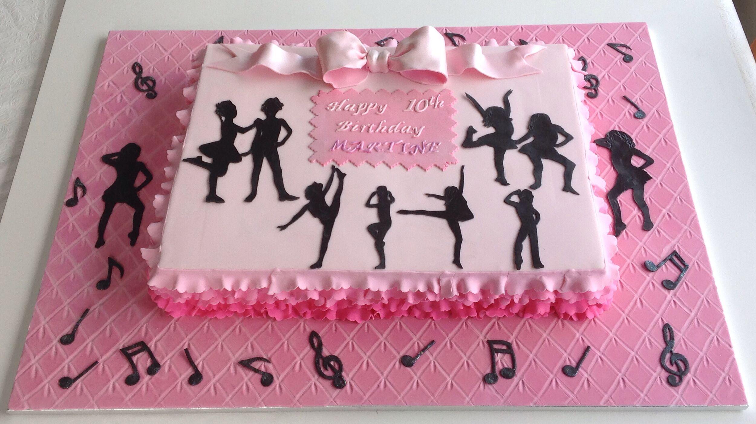 Astounding Dance Themed Sheet Cake Dance Birthday Cake Dance Cakes Funny Birthday Cards Online Hetedamsfinfo