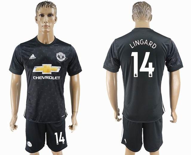 e183e3486d3 ... 2017 2018 manchester united 14 lingard black soccer jersey away