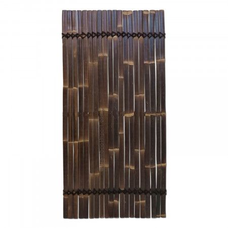 Black Bamboo Slat Fence Silvana 90 x 180 cm Fence panels