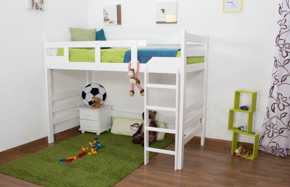 Kinderbett Hochbett Easy Premium Line K14 N Buche Vollholz