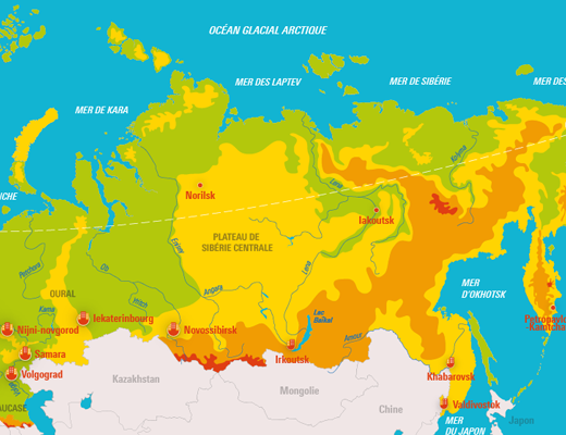 La Russie : son relief et ses grandes villes   Voyage ...