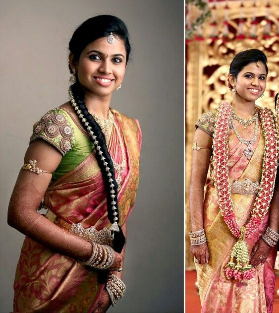 Friends Wedding Hairstyles Kerala: Lovely Hair Deco N The Entire Stone Jewels For Reception