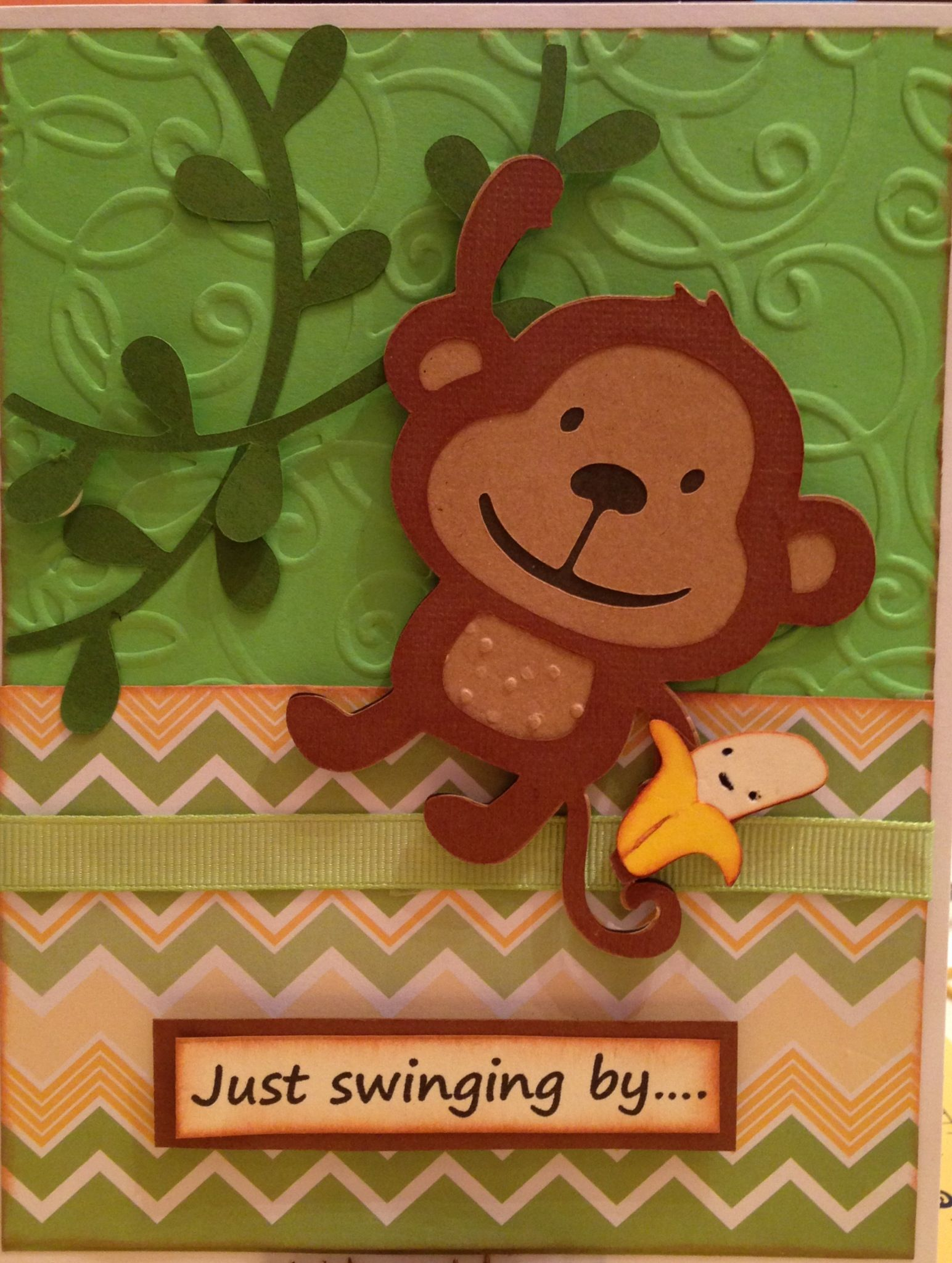 Monkey Birthday Card For A Child Kids Birthday Cards Cool Cards Cricut Cards