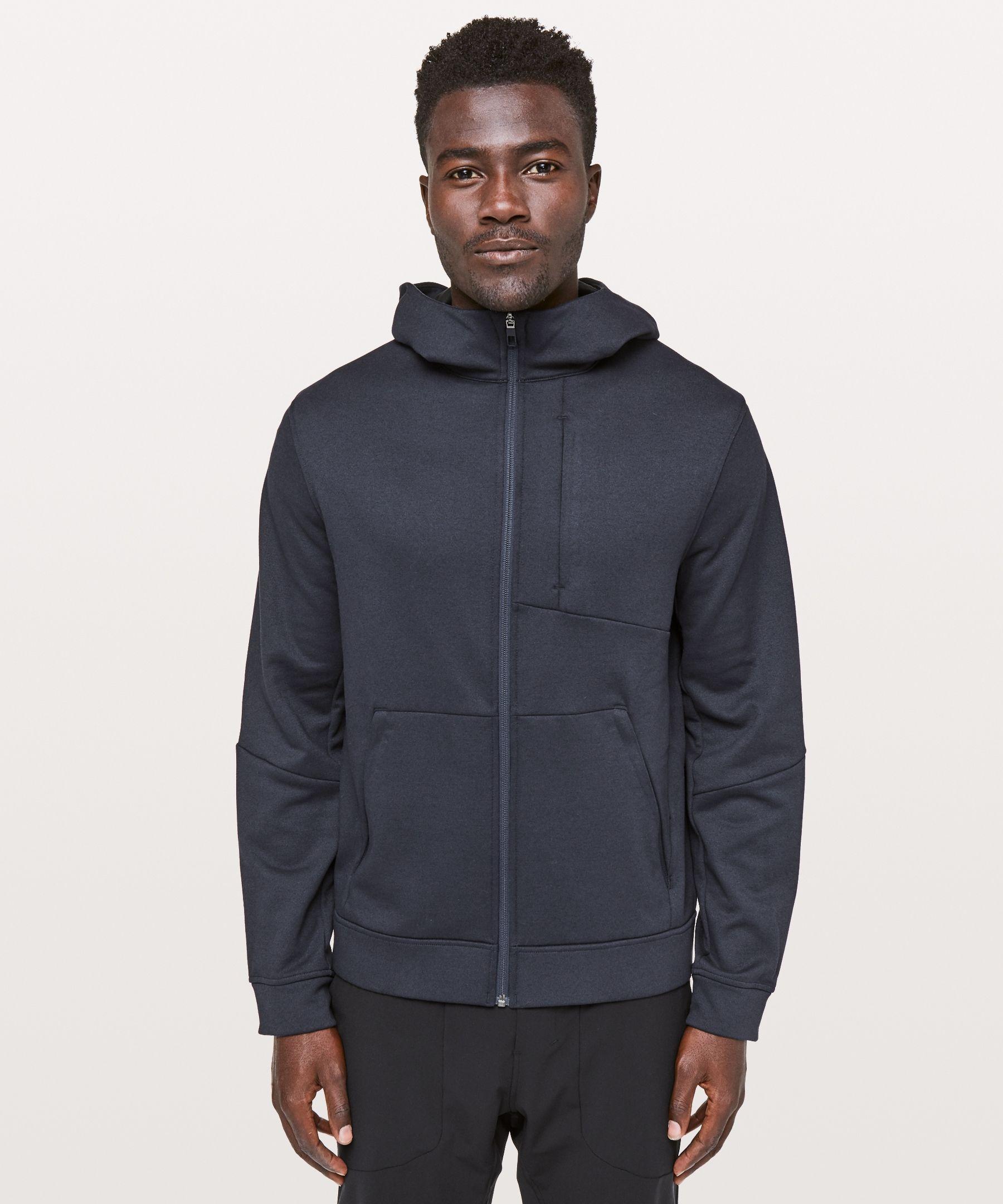Lululemon Men S City Sweat Zip Hoodie Thermo Heathered Nautical Navy Size Xxl Mens Sweatshirts Hoodie Hoodies