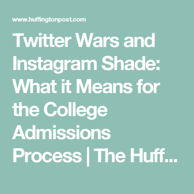 Twitter Wars And Instagram Shade: What It Means For The