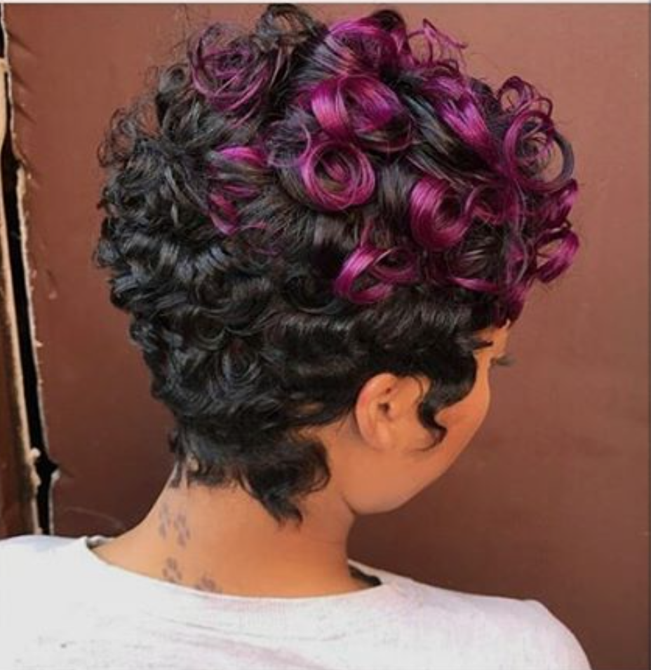 Nice cut and color by sorayahstyles blackhairinformation