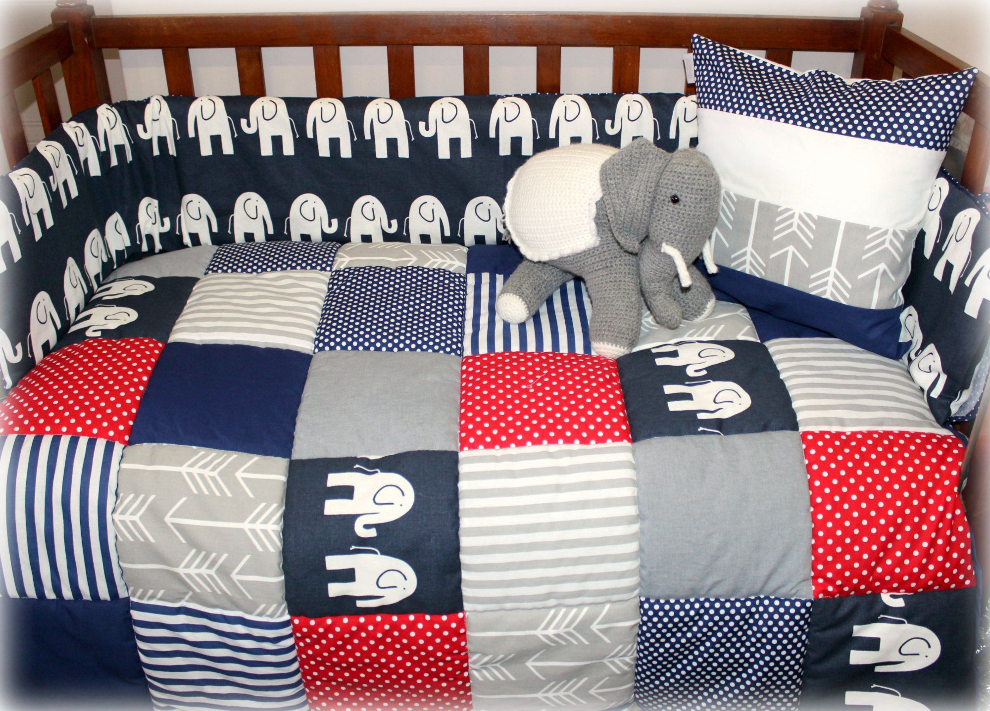 Baby cribs co za - Elephant Theme Baby Linen Cot Linen Nursery Linen Crib Linen In Navy