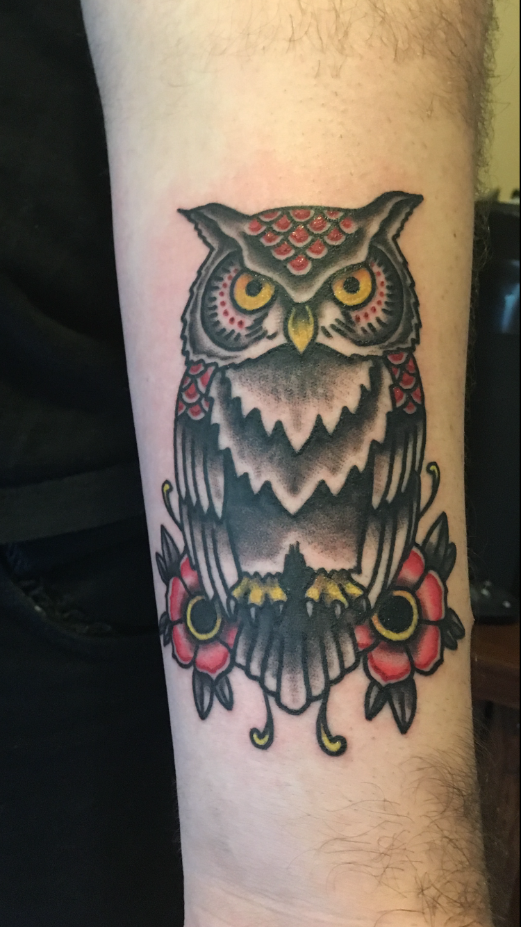 American Traditional Owl by Guy Ammeen at Dead City Ink in ...
