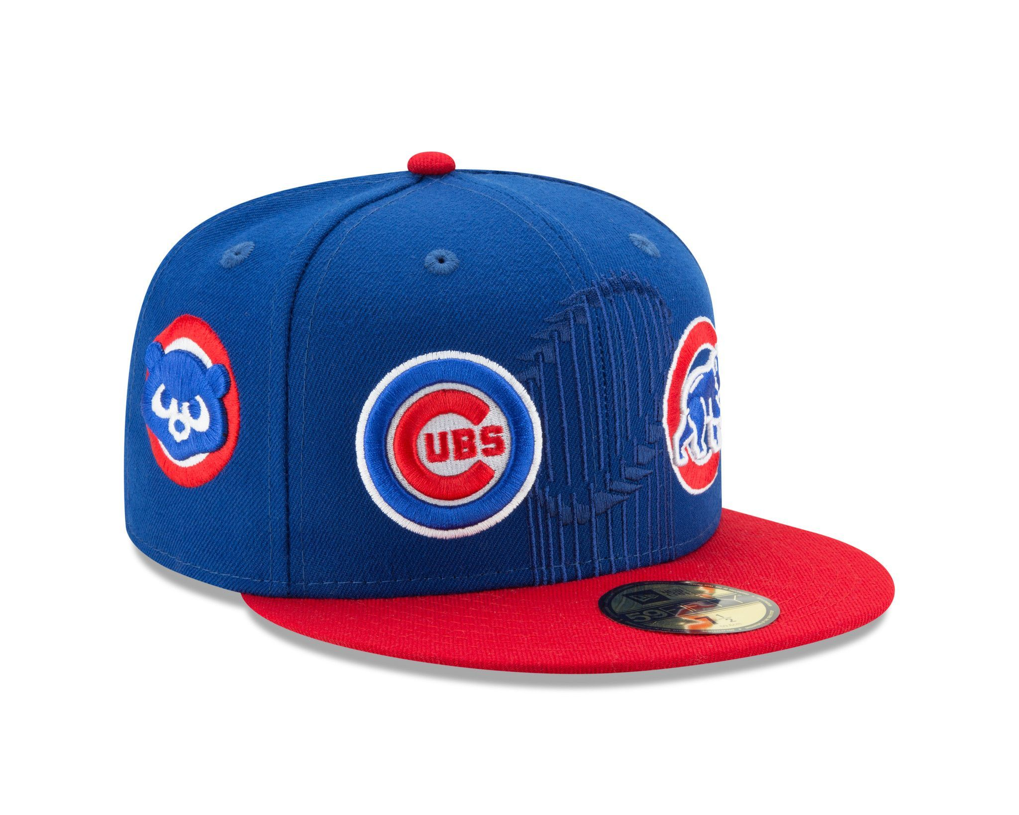 Chicago Cubs 3 Time World Series Champions Logos 59fifty Fitted Hat By New Era Fitted Hats New Era Champion Logo