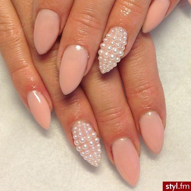 Paznokcie Pearl Nails Pointy Nails Trendy Nails