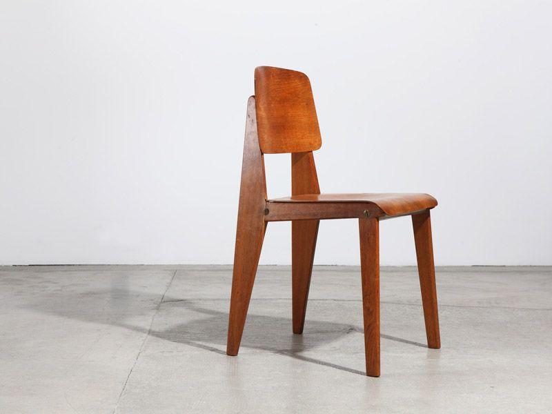 jean prouvé chaise démontable cb22, 1947 | années 50's | pinterest ... - Chaise Jean Prouve Prix