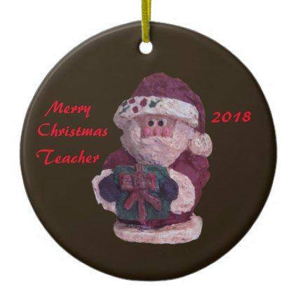 2018 santa with gift collector ornament | Santa