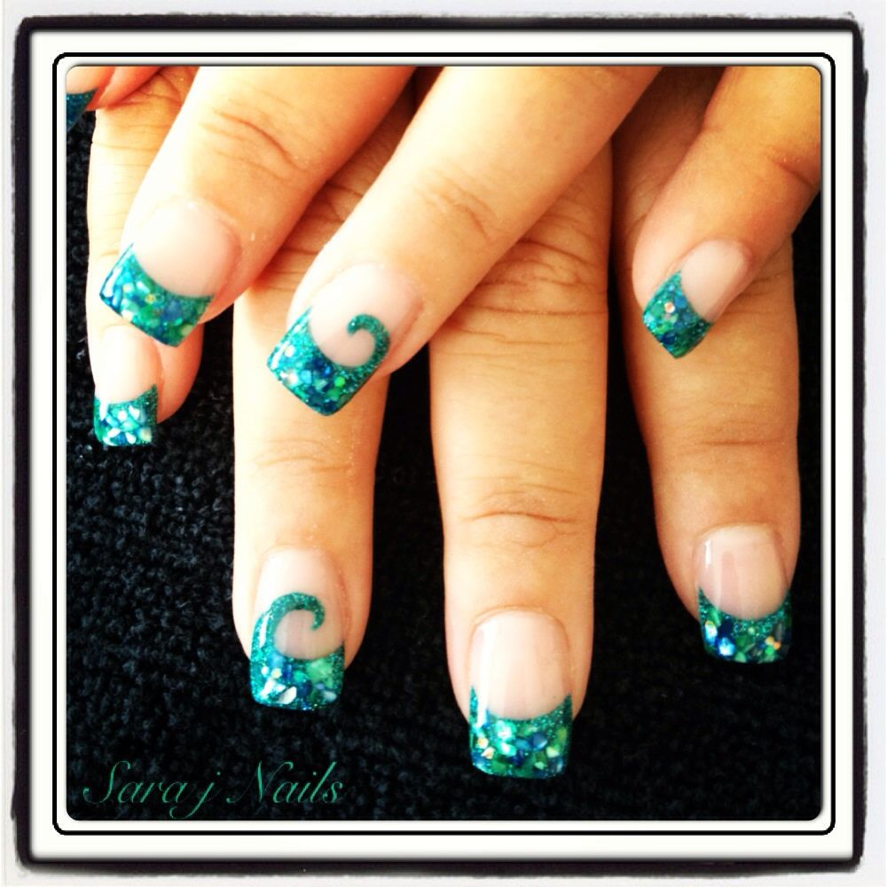 Acrylic Nail Design Paua Koru | She Nail Designs (and saves other\'s ...