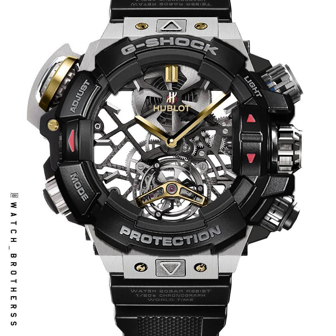 G-shock Uhren Günstig Kaufen Mix Match By Watch Brotherss G Shock Hublot Tourbillon