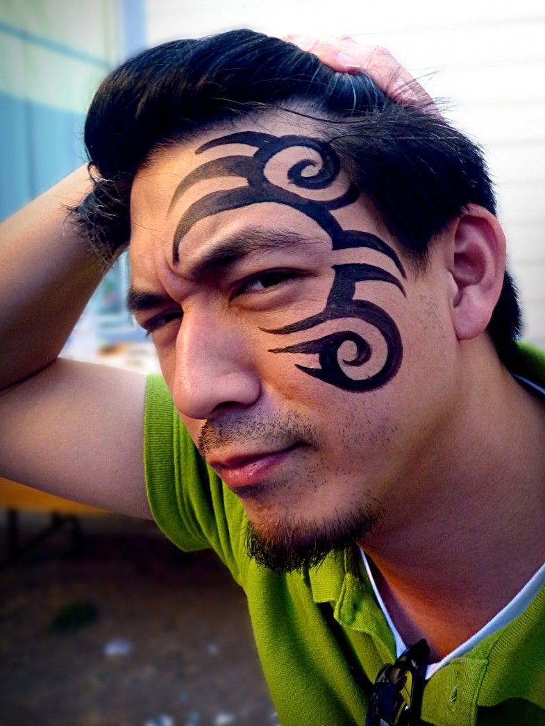 Mike Tyson Tattoo face painting design from a birthday
