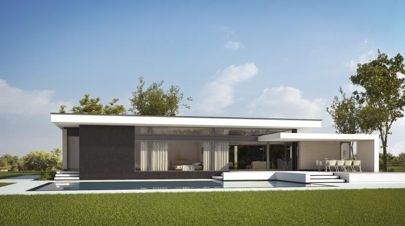 Proyecto de casa una planta la coma pinterest casas for Proyectos casas modernas