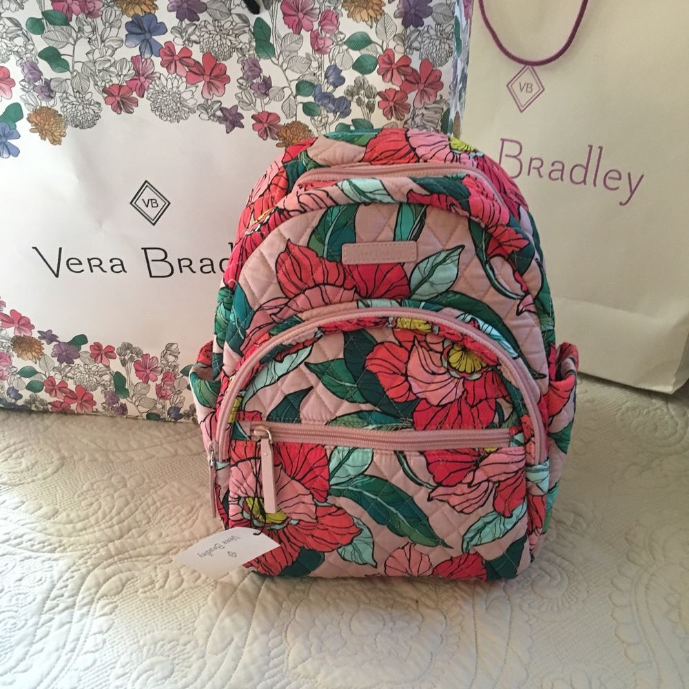624beb906a74 Vera bradley compact essential backpack outlet exclusive vintage floral nwt  jpg 1000x1000 Vintage floral backpack