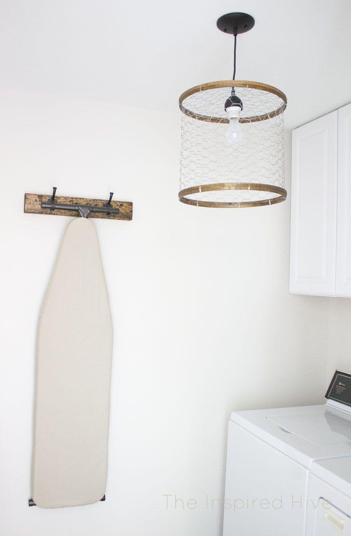 Diy Chicken Wire Light Fixture Diy Light Fixtures Laundry Room Lighting Chic Light Fixtures