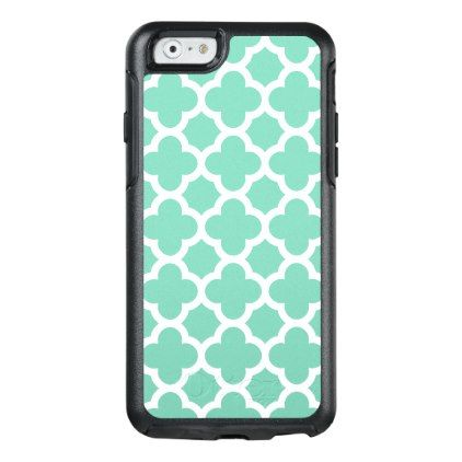 #White Quatrefoil Choose Your Color OtterBox iPhone 6/6s Case - #girly #iphone #cases