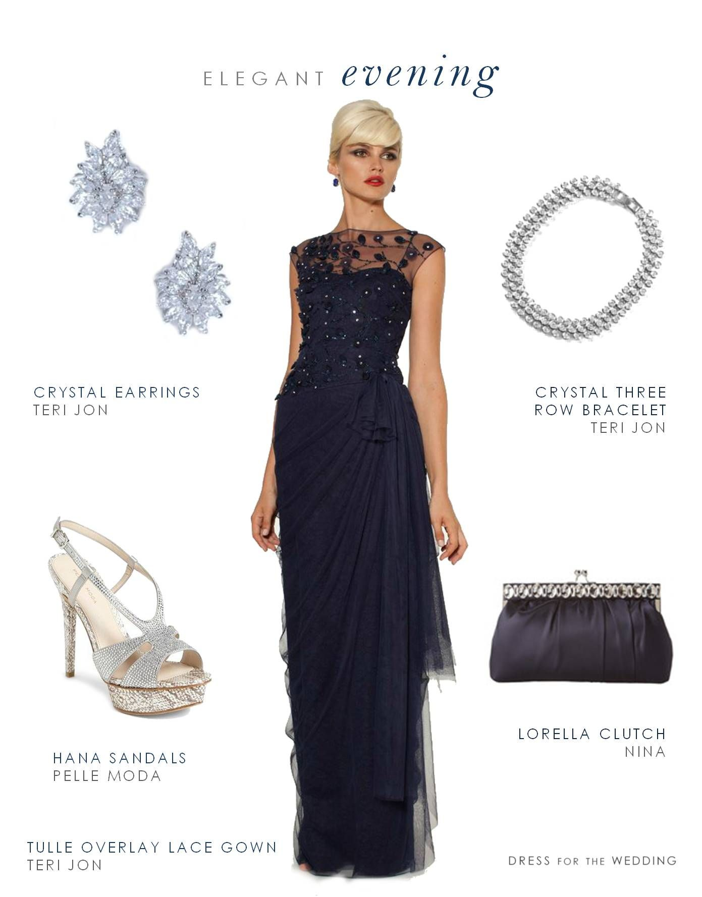 Navy Evening Gown for Mother of the Bride or Groom | Beautiful ...