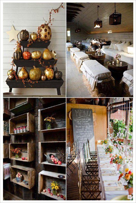 decoration salle mariage automne caisse de vin botte de paille verre de vin decoration plafond. Black Bedroom Furniture Sets. Home Design Ideas
