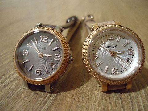 la petite montre cuir - rosée !  Chassée et capturée pour moins de 60€