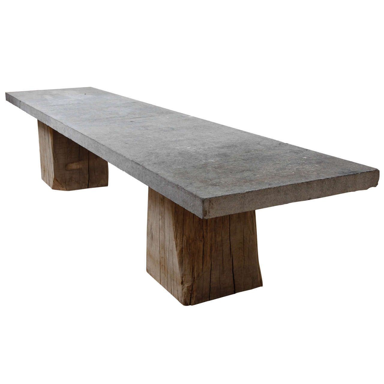 Belgian Blue Stone Table On Tree Trunk Base | From A Unique Collection Of  Antique And Modern Game Tables At ...