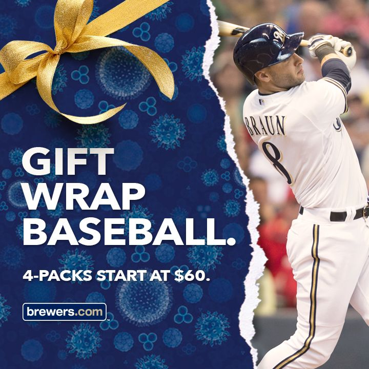 'Tis the season for Holiday 4-Packs! The perfect gift for the #Brewers fan on your shopping list. Learn more at brewers.com/4packs.