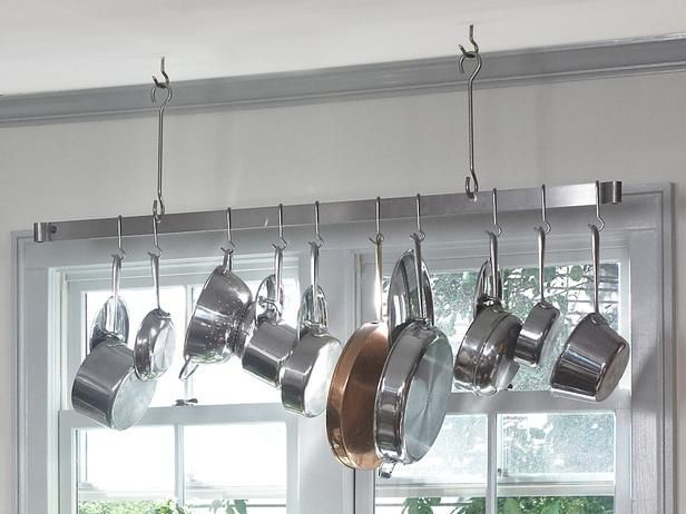 Kitchen Storage Solutions | Kitchen Storage Solutions : Rooms : HGTV The pot rack over the window ...