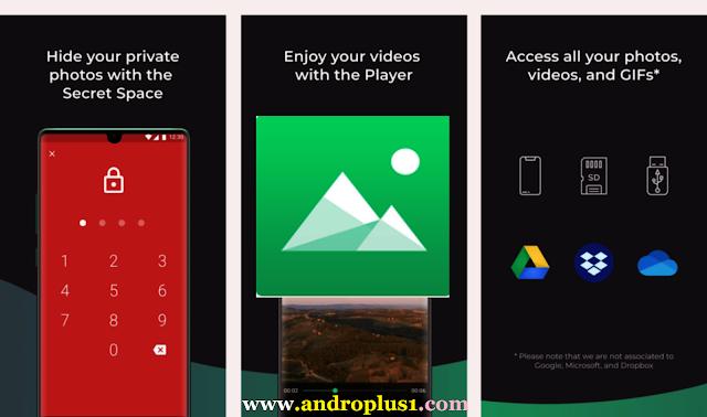 تحميل أفضل معرض صور مجاني Piktures بمميزات رائعة مجانا على أجهزة الأندرويد 2020 Secret Space App Secret