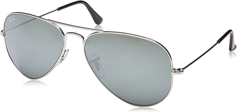 ray ban 3025 aviator rb3025 silver mirror w3277 58mm