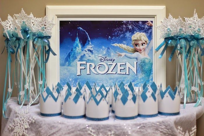 Amazing Frozen Themed Party Decoration Ideas Part - 6: Frozen Themed Birthday Party With Lots Of Really Cute Ideas Via Karau0027s Party  Ideas | Cake