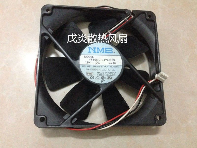 NMB 4710NL-04W-B59 Fan DC 12V 0.74A 3Pin 120*120*25mm #M2840 QL