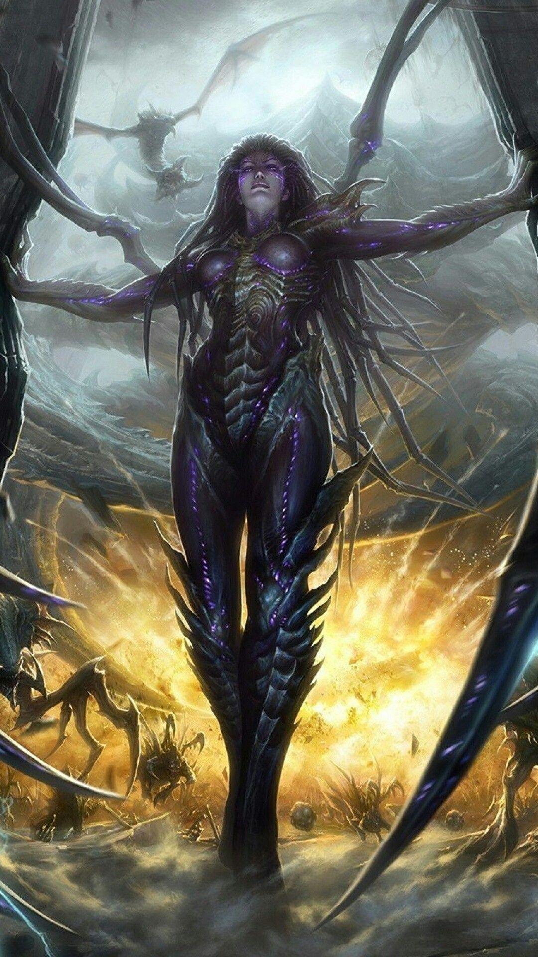 Queen of blades | Kerrigan starcraft, Starcraft, Sarah