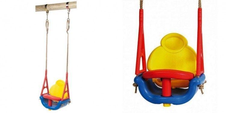Outdoor Baby Swing Seat Plastic Child Garden Hanging Chair Playset