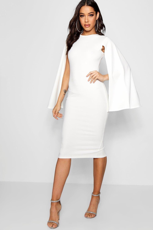 42+ Cape sleeve one shoulder white sheath dress trends