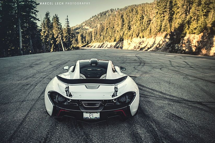 Great McLaren P1 Rear View By Marcel Lech